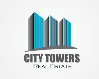 City Towers Real Estate Logo design - City Towers real estate logo design suitable for tower logo design seeker who wants to start as real estate company, real estate broker or real estate agent. It's a professional high class elegant logo design for real estate companies.  Price $199.00