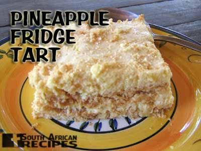 South African Recipes PINEAPPLE FRIDGE TART  (Megan)