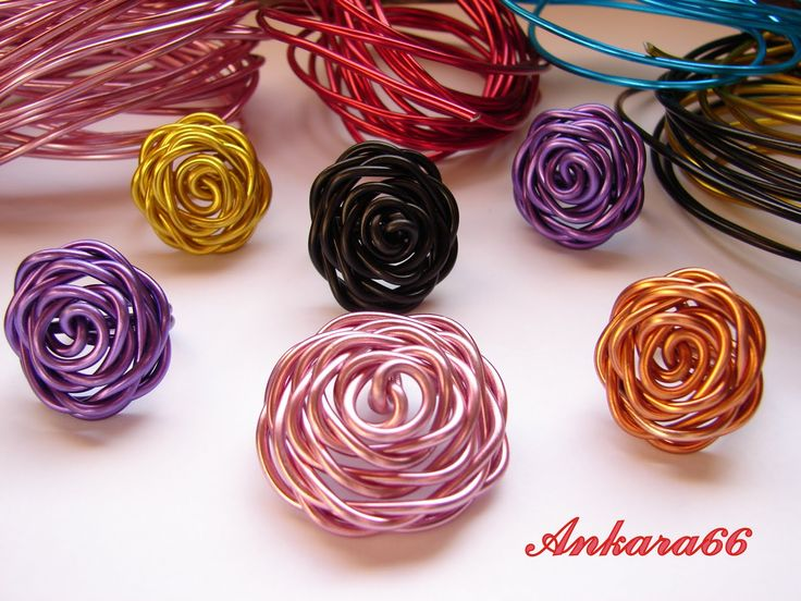 Wire Rose Pictorial (Tutorial anillo Rosa) from Ankara66