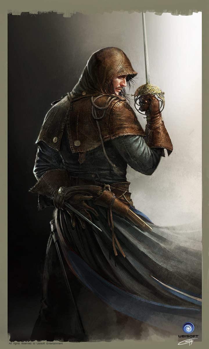 Arno Dorian Keyart AC Unity Ubisoft by Okmer Assassin's Creed keyart armor clothes clothing fashion player character npc   Create your own roleplaying game material w/ RPG Bard: www.rpgbard.com   Writing inspiration for Dungeons and Dragons DND D&D Pathfinder PFRPG Warhammer 40k Star Wars Shadowrun Call of Cthulhu Lord of the Rings LoTR + d20 fantasy science fiction scifi horror design   Not Trusty Sword art: click artwork for source