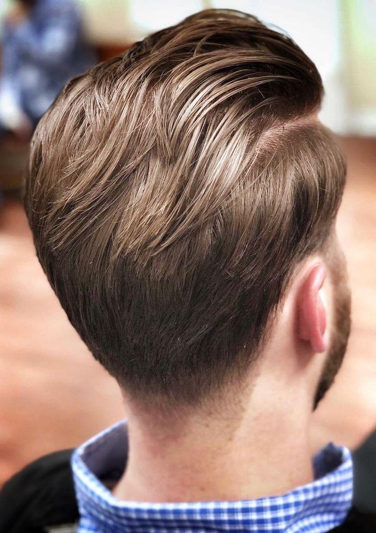 Side Part Slick Back Hair Potongan Rambut Pria Potongan Rambut Rambut Pria