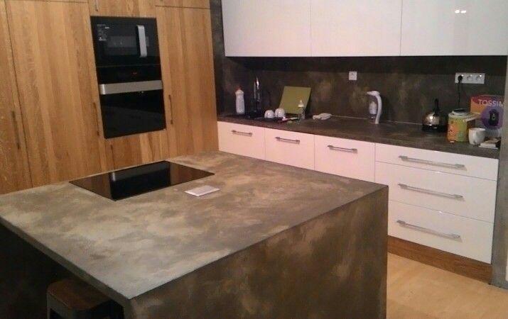 Imitace pohledoveho betonu v kuchyni
