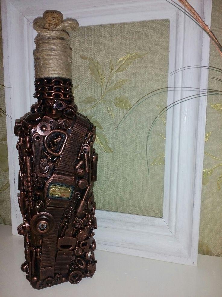 Декорированная бутылка в стиле Стимпанк