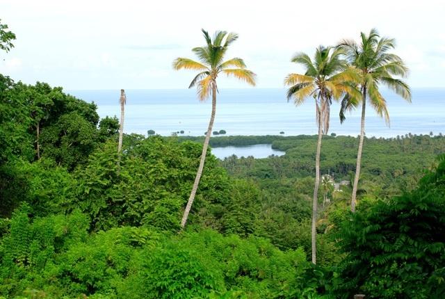 Vista desde La Loma, la parte más alta de San Andrés