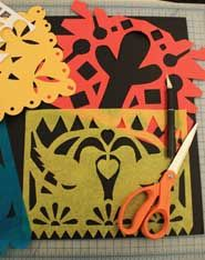 papel picado templates from the Tacoma Art Museum.