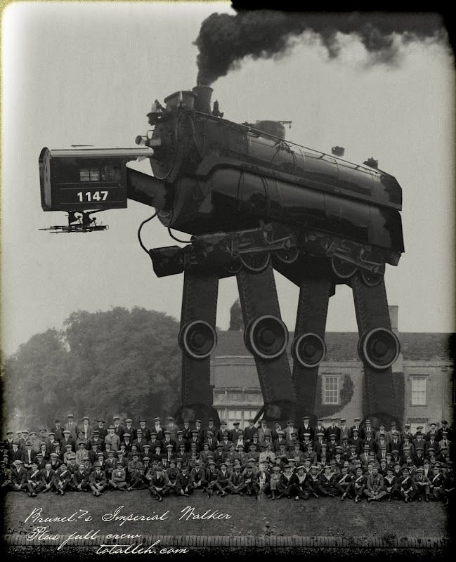 Steampunk AT-AT: Old Schools, Steampunk Atat, Imperial Walker, Steampunk At At, Stars War, Retro Beautiful, Industrial Revolution, Vintage Photo, Steampunkatat