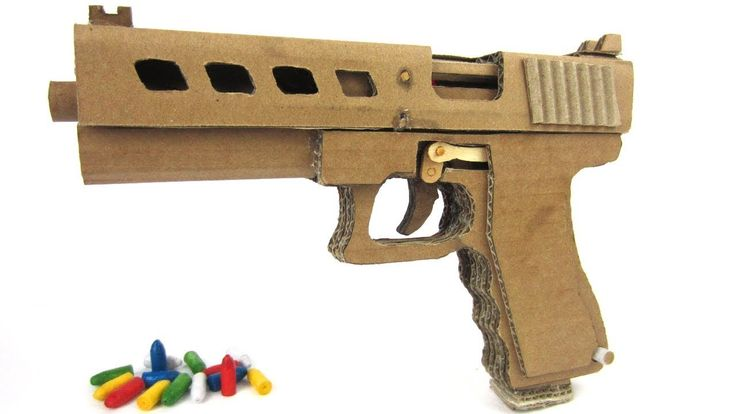 How To Make Glock Gun 19 That Shoots Bullets Cardboard