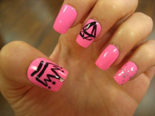 fairly easy and super adorable! #preppy #pink #nails