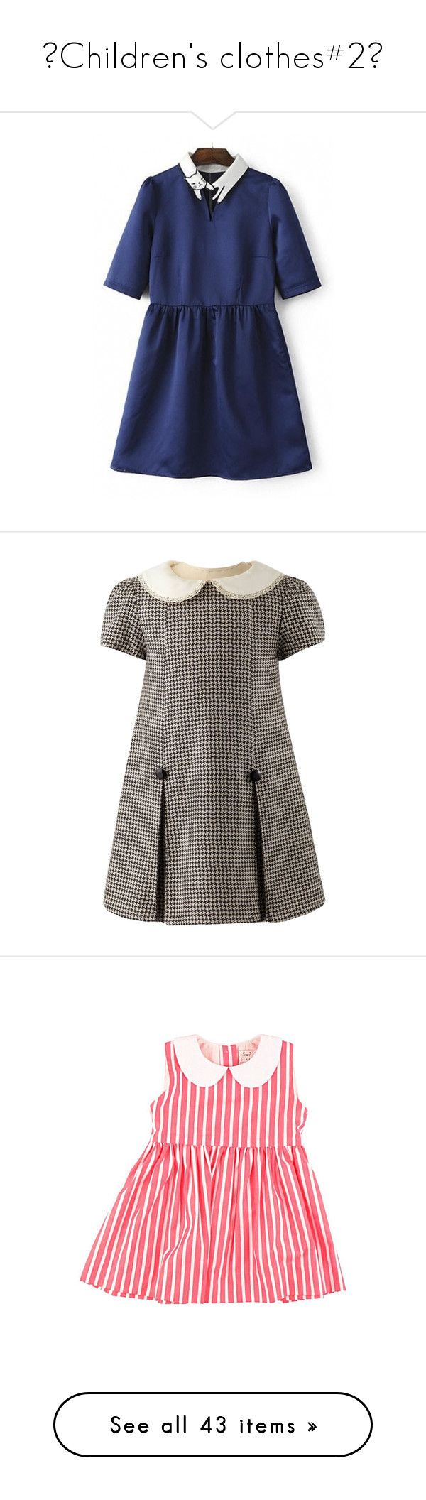 """""""♥Children's clothes#2♥"""" by lessalice ❤ liked on Polyvore featuring dresses, color block mini dress, elbow length sleeve dress, block print dresses, colorblocked dress, elbow length dresses, rachel riley, shift dress, houndstooth dress and hounds tooth dress"""