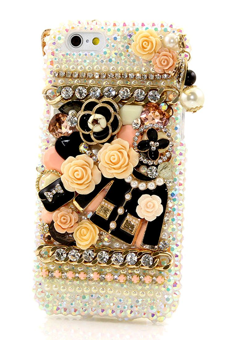 Camellia Bling case Design | Protective Cute iPhone 6 case bling phone cover for girls. http://luxaddiction.com/collections/3d-designs/products/camellia-design-style-802
