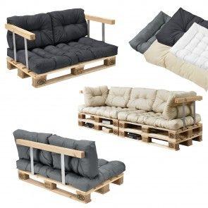 [en.casa] Divano paletta euro-sofá - con cuscini - set completo incl. schienale 274,70 €