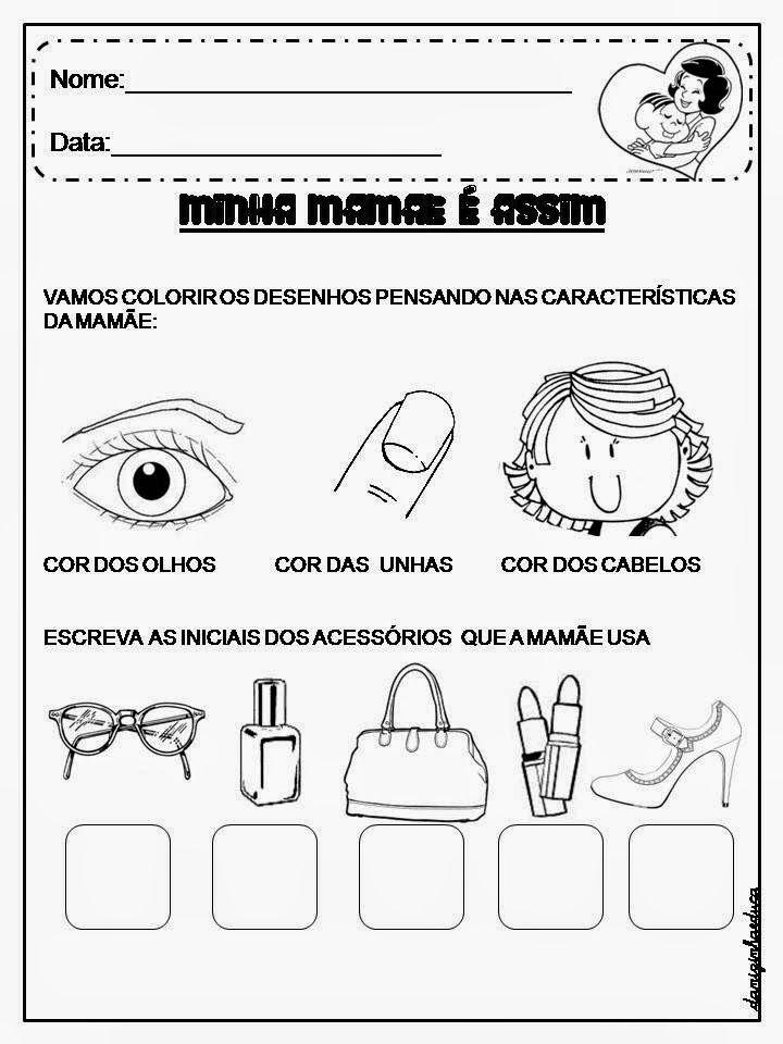 Atividades De Alfabetizacao Dia Das Maes Com Imagens