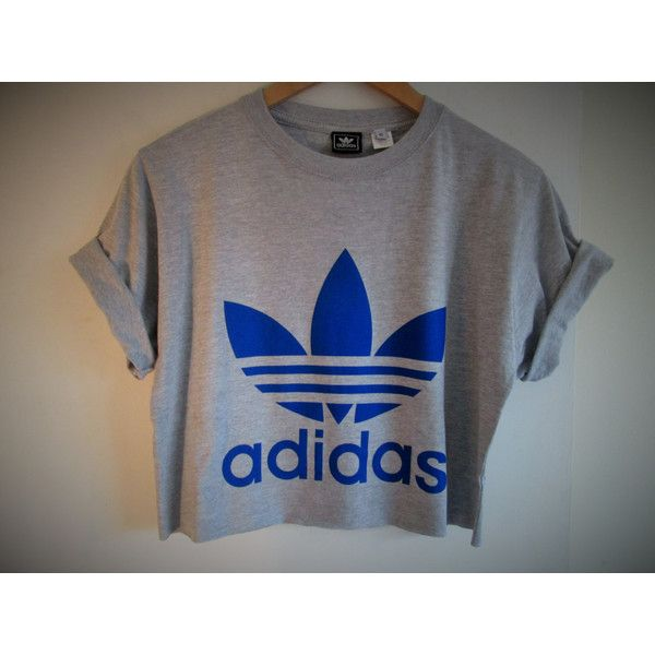 Vintage classic trefoil adidas crop top retro rave festival unique... ($24) ❤ liked on Polyvore featuring tops, t-shirts, vintage retro t shirts, unisex tees, crop t shirt, retro tees and retro t shirts