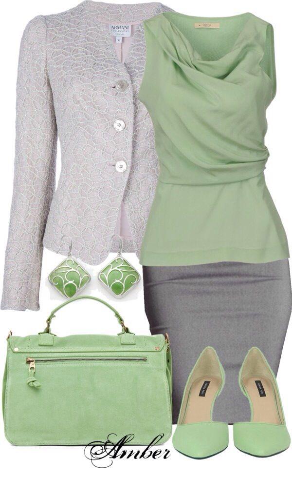 JW fashion, modest. Mint & grey!