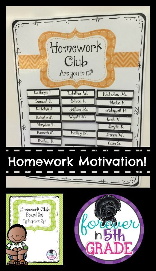 Need a way to motivate your students to do their homework? Try the Homework Club. Details at Forever in Fifth Grade!