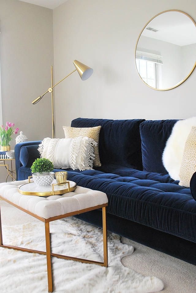 Www 11magnolialane Com Blue Sofa Living Blue Couch Living Room Blue Sofas Living Room