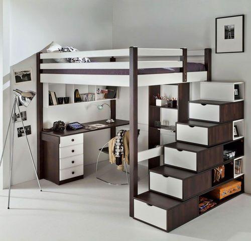 Кровать-чердак для взрослых (46 фото): двуспальные модели ...