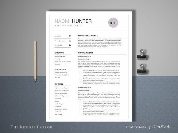239 best Professional Resume Template images on Pinterest Resume - professional fonts for resume