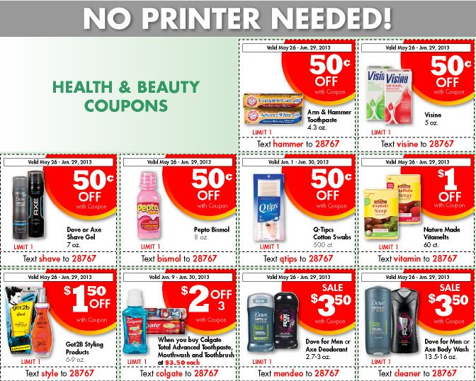 Get grocery store coupons