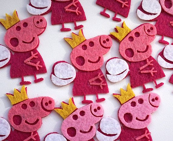 Felt Peppa Pig Peppa Pig Felt Shapes Felt Die Cuts Funny