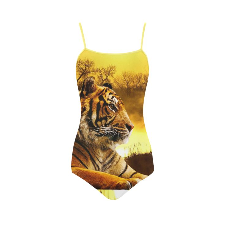 Tiger and Sunset Strap Swimsuit