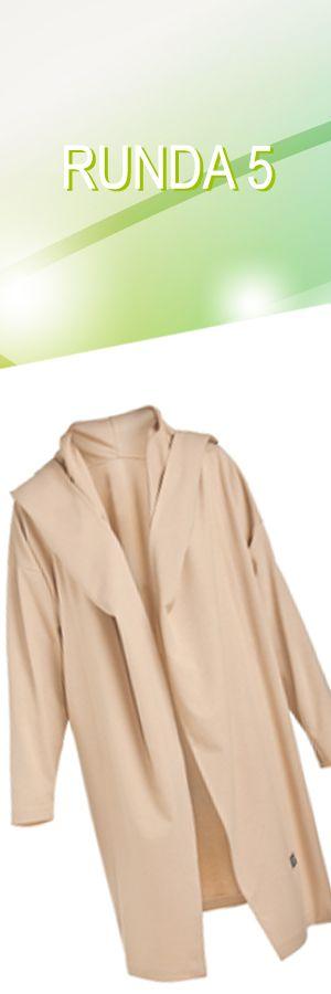 Płaszcz CLR beżowy, rozmiar M; Projektant: NATASHA PAVLUCHENKO ; Wartość: 760 zł; Poczucie piękna: bezcenne. Powyższy materiał nie stanowi oferty handlowej
