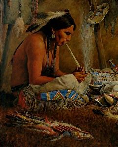 Sacred Smoke by artist Dan Bodelson. #oilpainting found on the FASO Daily Art Show -- http://dailyartshow.faso.com