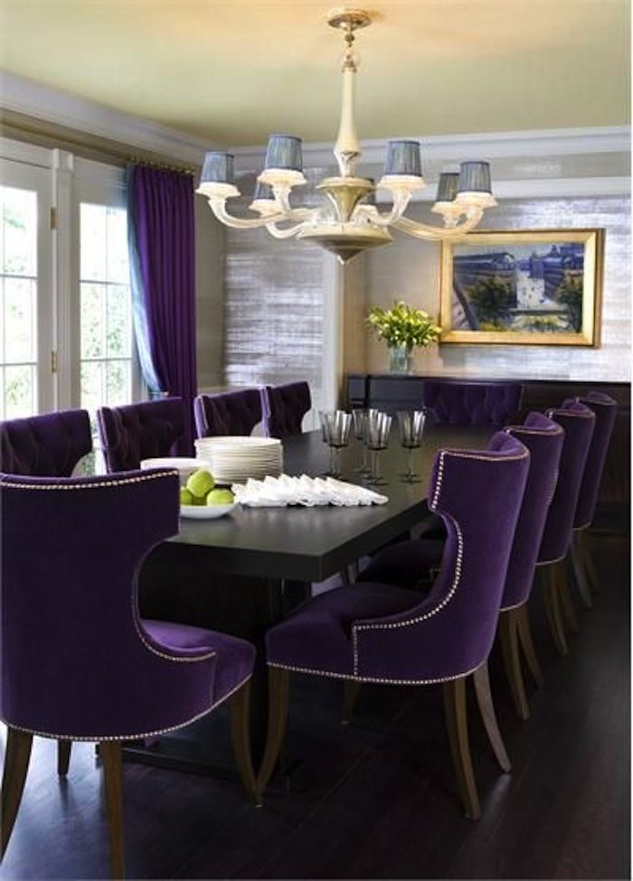 Related Image Purple Dining Chairs Bold Dining Room Decor Purple Dining Room
