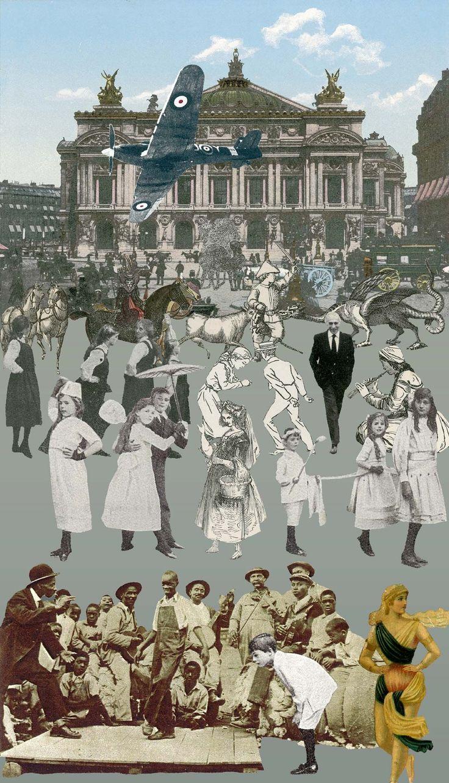 Paris- Dancing  by Sir Peter Blake