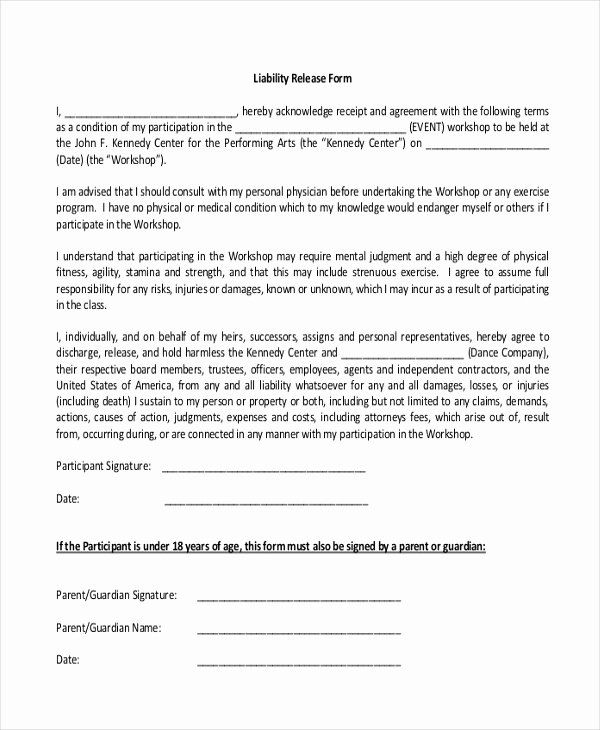 Release Of Liability Form Pdf Unique Sample Release Of Liability Form 9 Newsletter Template Free Free Classroom Newsletter Template Teacher Newsletter Template