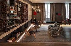 На третьем этаже новой штаб-квартиры модного Дома Fendi, открывшейся недавно в Риме, расположен крошечный (всего семь номеров люкс), но суперроскошный отель. Автор интерьера Марко Костанци.Вестибюль отеля больше напоминает гостиную частной квартиры.Площадь номеров варьируется от 35 до 60 метров. Кажд