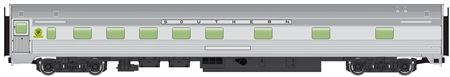 Walthers Mainline HO 910-30111 85' Budd 10-6 Sleeper, Southern Railway (Silver) | ModelTrainStuff.com