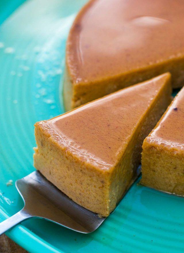 Pumpkin Maple Flan | A terrific dessert combining maple syrup and pumpkin!