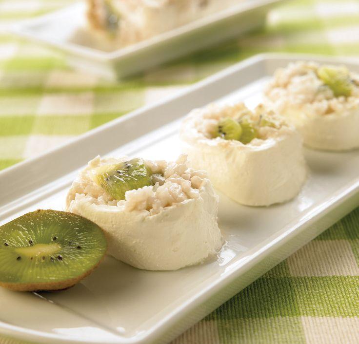 Sushi de queso crema con kiwi