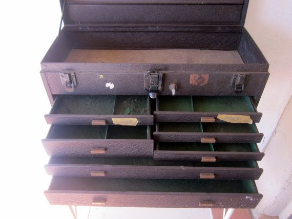 Huge Old Vintage 1950s Kennedy Machinist Tool Box 7