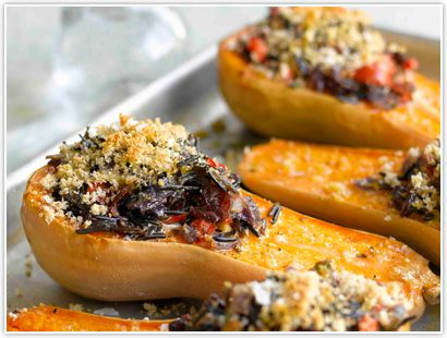 Buckwheat Honey Glazed Butternut Squash- Using Bee Raw Buckwheat Honey gives this dish an extra depth and flavour. Garnish it with breadcrumbs or any other flavors your desire.