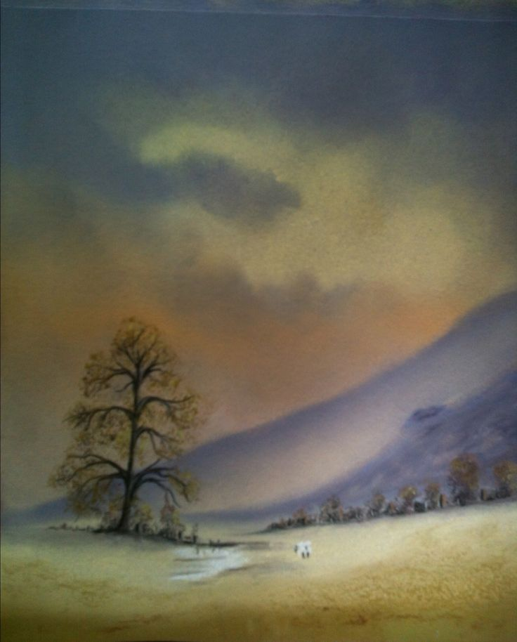 Welsh countryside  pastel