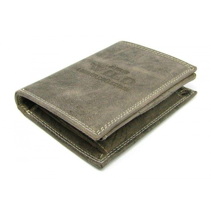 Hnědá pánská peněženka kožená - peněženky AHAL