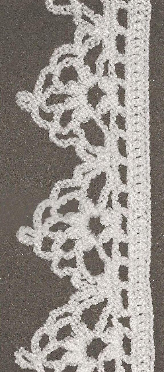 Вязание крючком Границы # 49 - Всемирный Célénaa ༺✿ƬⱤღ  https://www.pinterest.com/teretegui/✿༻