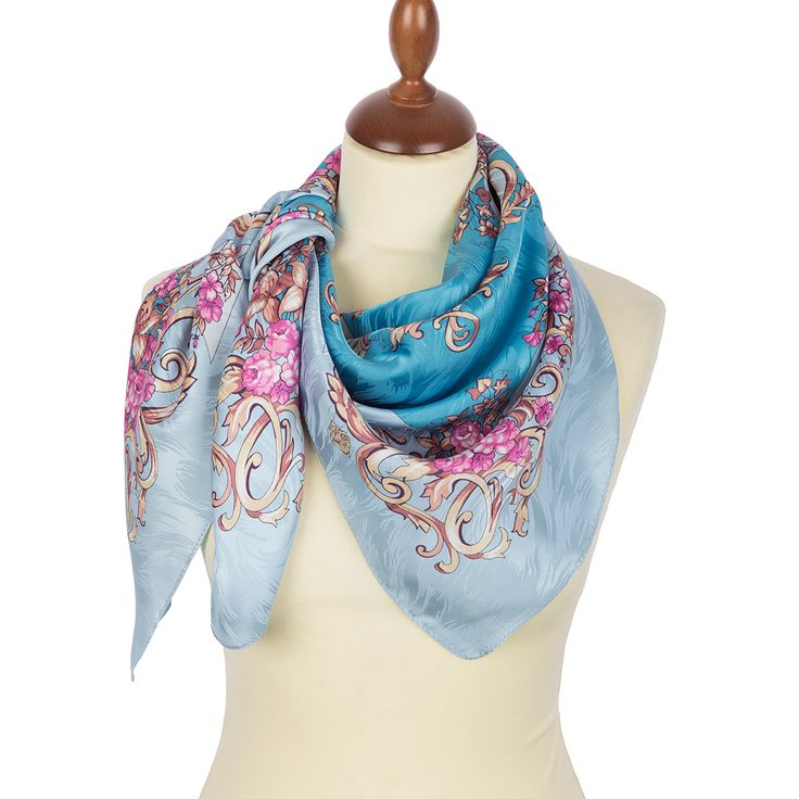 """#Russian #shawls and #scarves store. Russian scarf """"Coquette 832-1"""". #Traditional Russian #clothing from Pavlovo Posad.FREE SHIPPING"""