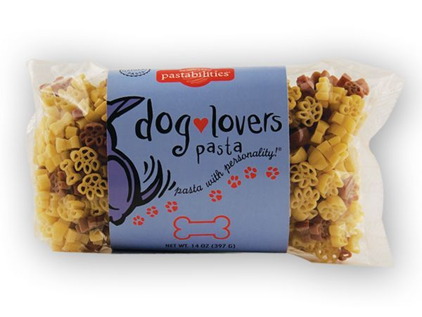 Our Dog Lovers Pasta is Mom's best friend! Add lots of smiles when serving our yummy Taco Pasta Salad to your family – recipe included on label. 14 oz. Bag, Serves 6-8.  Pasta Shapes: Dog Bones and Paw Prints