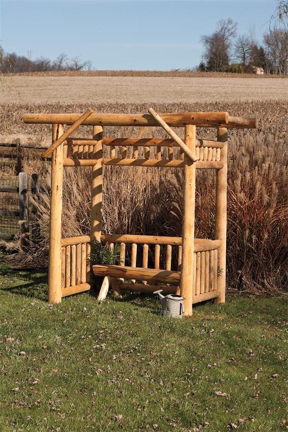 Amish Get-Away Arbor - Rustic Cedar
