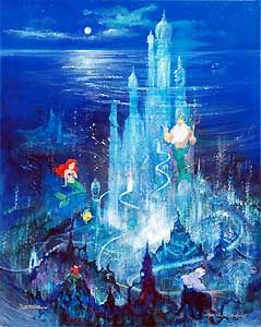 The Little Mermaid - Triton's Castle - Harrison Ellenshaw - World-Wide-Art.com - $1495.00 #Disney #Ellenshaw