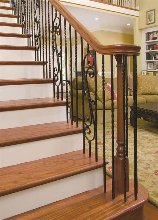 #Sicily   Forged Iron Stair Parts Are Available In: Flat Black, Copper Vein