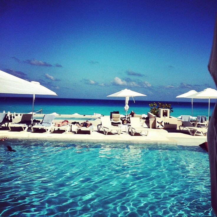 The pool at SecretsResorts The Vine Cancun