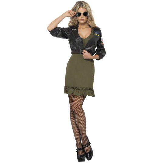 Ladies Top Gun Dress and Jacket Fancy Dress Costume - Only 34.99! Possible tap solo costume