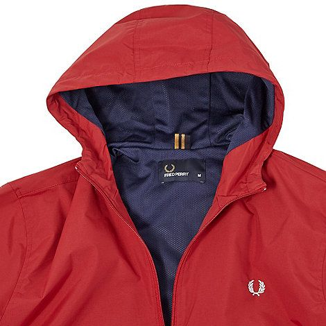 Fred Perry Red hooded jacket | Debenhams