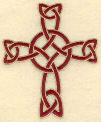 Woven Celtic Cross embroidery design