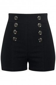 Women's High Waisted Pin Me Up Shorts  Available at www.doubletroubleapparel.com also
