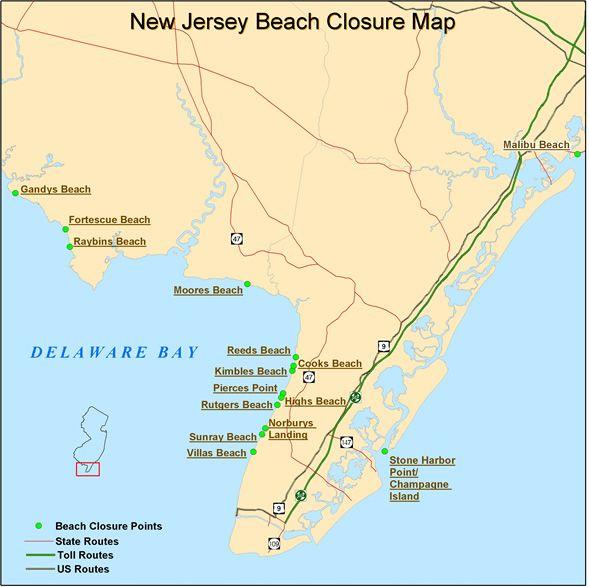 New Jersey Beach Closure Nj